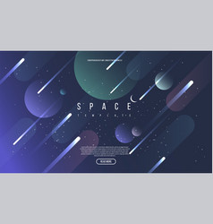 universe background for presentation design vector image