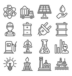utilities icons set electricity water gas utility vector image