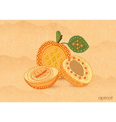 Vintage background with apricot vector