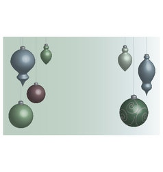 Wallpaper Christmas balls soft vector image