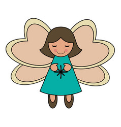 White background with decorative angel vector