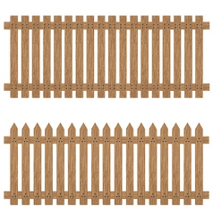 Wooden fence isolated on background Wooden fence vector image