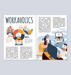 Worcaholic magazine layout vector