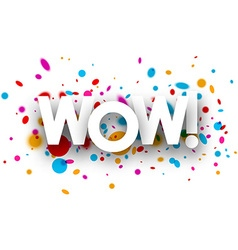 Wow paper poster vector