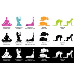 Yoga poses for pregnant small vector image