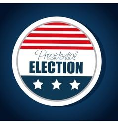 button flag usa election presidential graphic vector image