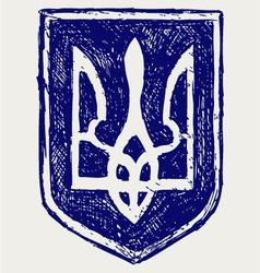 Emblem of Ukraine vector image