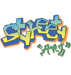 Graffiti street art vector image