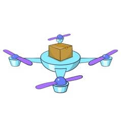 Quadcopter icon cartoon style vector image vector image