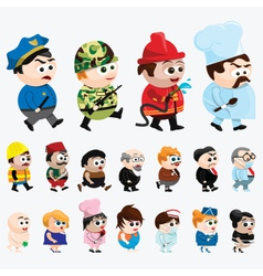 Cartoon Characters vector image vector image