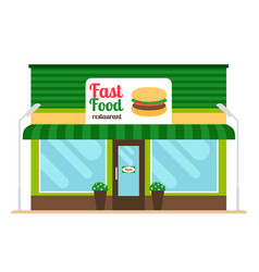 fast food restaurant store front vector image vector image