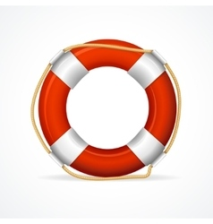 Life buoy ring red vector
