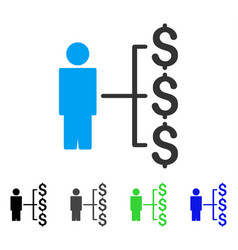 Person payments flat icon vector