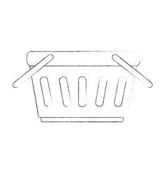 shopping basket isolated icon vector image
