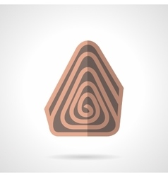 Sweet chocolate roll flat color icon vector image vector image