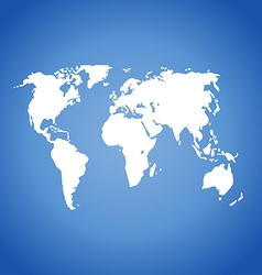 World map isolated on blue vector image