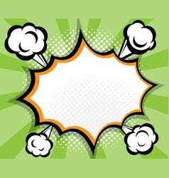 abstract blank speech bubble pop art comic book vector image