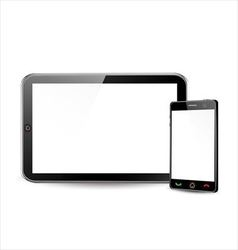 Blank smartphone and tablet computer vector image vector image
