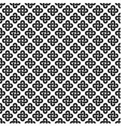 solomon knot seamless pattern vector image