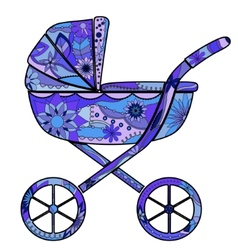 Boy baby carriage vector image vector image