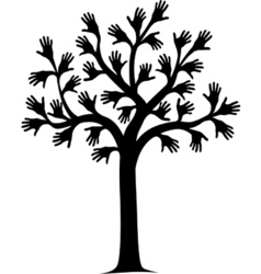 hand tree vector image vector image