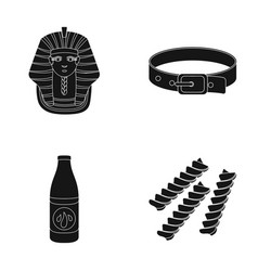 Nemes a collar and other web icon in black style vector