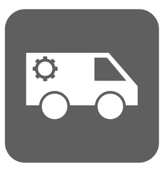 Service Car Flat Squared Icon vector image vector image