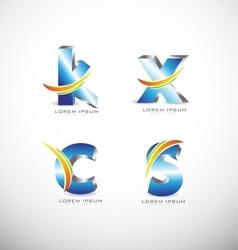 3d Letter logo icon vector