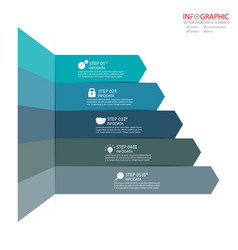 Abstract element infographics 5 option design for vector
