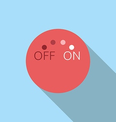 Abstract red switch vector