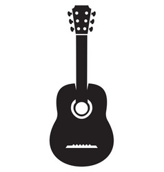 acoustic guitar silhouette vector image