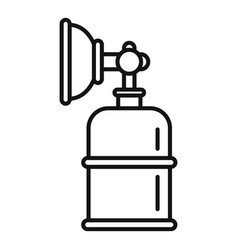 Anesthesia mask bottle icon outline style vector