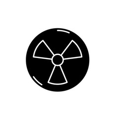 Atomic industry black icon sign on vector