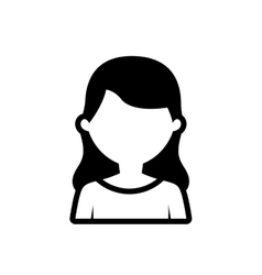 avatar woman employee work outline vector image