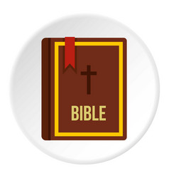 bible book icon circle vector image