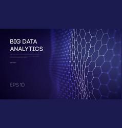Big data business inteligence technology vector