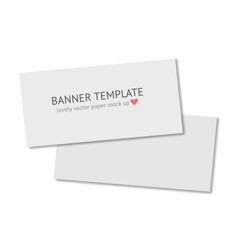 Blank flyer with shadow isolated on dark vector image