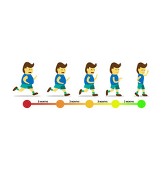 Body transformation by jogging infographic vector