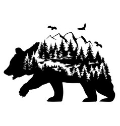 brown bear fantasy vector image