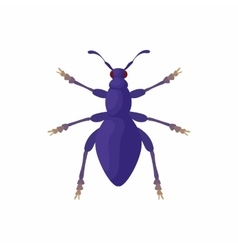 Bug icon cartoon style vector image