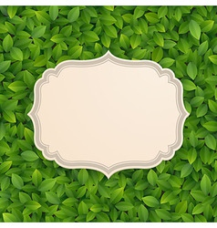 Card in foliage vector