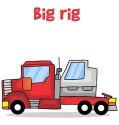 Cartoon big rig transportation vector