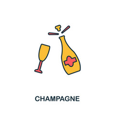 champagne icon creative 2 colors design vector image