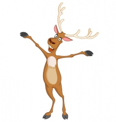 cheerful rudolph vector image