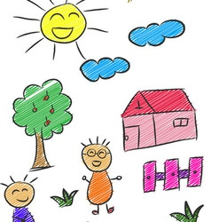 Children Doodle 3 vector