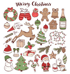 christmas doolde set vector image