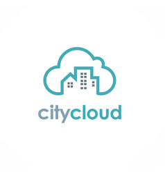 City cloud logo vector