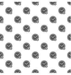 clock money pattern seamless vector image