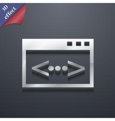 Code icon symbol 3D style Trendy modern design vector