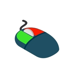 Computer mouse icon isometric 3d style vector image